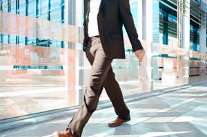 walking in office
